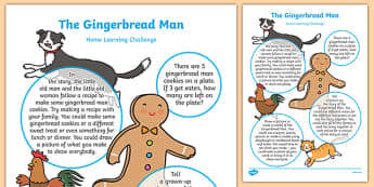 The Gingerbread Man Home Learning Challenge Sheet Nursery FS1