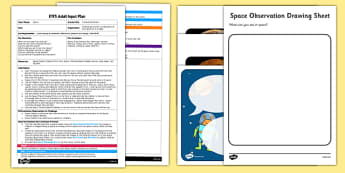 Comparing Planets EYFS Adult Input Plan and Resource Pack - Space, Solar System, sky, planets, telescope, surface, Mercury, Venus, Earth, Mars, Jupiter, Saturn, Uranus, Neptune, compare, same, different, EYFS planning, adult input plan