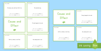 Cause and Effect Task Cards - Cause and effect, Discussion, Cause, Effect, Task Cards, Reading, Comprehension