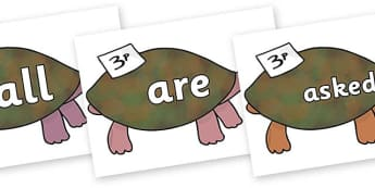 Tricky Words on Turtle to Support Teaching on The Great Pet Sale - Tricky words, DfES Letters and Sounds, Letters and sounds, display, words