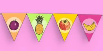 Fruit Salad Bunting - olivers fruit salad, fruit salad, bunting, display bunting, display