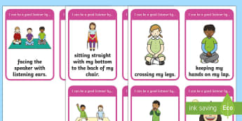 Good Listening Skills Flashcards - Back to School Australia, back to school, good listening, good listener, listening skills, good lear