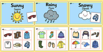 Weather Clothes Sorting Activity Romanian Translation - romanian, clothes sorting activity, weather and the seasons, clothes, weather, seasons, clothes sorting, weather conditions