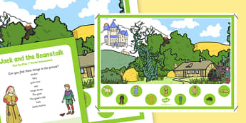 Jack and The Beanstalk Can You Find...? Poster and Prompt Card Pack - Beanstalk, EYFS Story, Literacy, traditional tales, jack, eyfs, early years