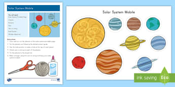 Solar System Mobile Craft - Space, solar system, galaxy, craft, solar system craft, space craft, mobile, space mobile, planets,