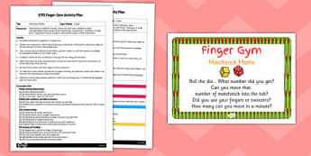 EYFS Matchstick Maths Finger Gym Activity Plan and Prompt Card Pack