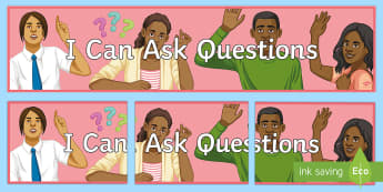 I Can Ask Questions Banner - Key Stage 4 Entry Level