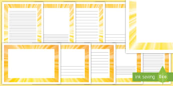Sunshine Page Border Pack - sunshine borders, easter, sunrise, sun set, easter story, jesus,