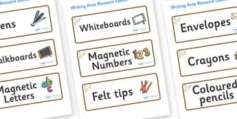 Owl Themed Editable Writing Area Resource Labels - Themed writing resource labels, literacy area labels, writing area resources, Label template, Resource Label, Name Labels, Editable Labels, Drawer Labels, KS1 Labels, Foundation Labels, Founda