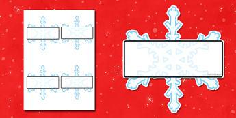 Editable Self Registration Snowflakes - self registration, self-registration, editable, snowflakes, snowflake, editable snowflake, snowflake label, self registration snowflakes, editable labels, editable self registration labels, labels, registration