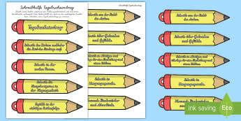 Tagebucheintrag Schreibhilfe - Tagebuch, Aufsatz, Deutsch, schreiben, selbstständig,,German