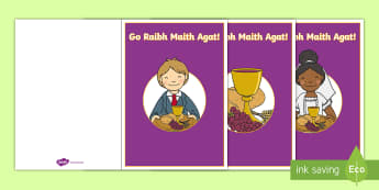 Céad Chomaoineach Go Raibh Maith Agat Cards - Confession & First Communion Resources,Irish