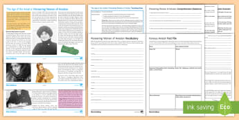 The Age of the Aviatrix Differentiated Reading Comprehension Activity - aviatrix, women in flight, inhfluential women, reading comp, reading comps, reading comprehensions,