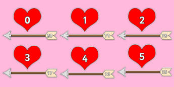 Valentine's Day Number Bonds to 20 (Arrow and Hearts) - Valentine's Day, Valentine, love, Saint Valentine, heart, kiss, number, bonds, matching cards, number bonds to, counting, number recognition, cupid, gift, roses, card, flowers, date, letter, gir