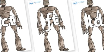 Final Letter Blends on The Iron Man - Final Letters, final letter, letter blend, letter blends, consonant, consonants, digraph, trigraph, literacy, alphabet, letters, foundation stage literacy