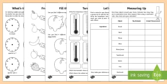 Year 2 Maths Measurement Activity Booklet - Learning from Home Activity Booklets, maths, maths homework, maths booklet, measurement, measure, me