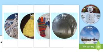 Winter Display Circle Photo Cut-Outs - English/Mandarin Chinese - Winter Display Circle Photo Cut Outs - winter, display, circle, photo, cut outs,winterdisplay,wnter,
