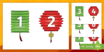 Chinese Lantern Number Sequencing Peg Activity - EYFS, Early Years  KS1, Key stage 1, chinese new year, lanterns, maths, mathematics, numeracy, numbe