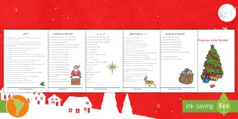 Cuadernillo: Preguntas de Navidad  - debate, preguntas de Navidad, navidad, preguntas, preguntas de navidad, español