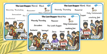 The Last Supper Word Mat - christianity, religion, Easter, words