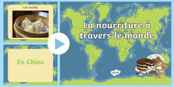 PowerPoint : La nourriture à travers le monde - nutrition, aliments, légumes, fruits, cycle 2,French