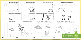 Pencil Control and Scissor Skill Resource Pack English/Romanian - EAL, Fine Motor Skills, Pencil Control, Handwriting, Scissor Skills, Handling, Scissors, Pencil, For