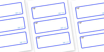 Jay Themed Editable Drawer-Peg-Name Labels (Blank) - Themed Classroom Label Templates, Resource Labels, Name Labels, Editable Labels, Drawer Labels, Coat Peg Labels, Peg Label, KS1 Labels, Foundation Labels, Foundation Stage Labels, Teaching Labels