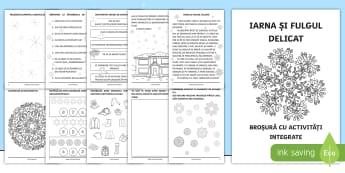 Iarna și fulgul delicat Broșură cu activități integrate - broșura, activități, integrate, iarna, clasa pregătitoare, activități, numărare, numere, lite