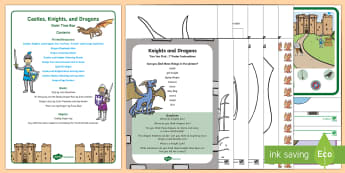 Castles, Knights, and Dragons Quiet Time Box - Zog, Mike The Knight, Table Top Activities, Eyfs, Fine Motor