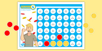 Four in a Row Imperfect Tense Self-Checking Board Game-French