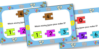 Number Bonds To Five Jigsaw PowerPoint - number bonds, number bonds to five, jigsaw, jigsaw powerpoint, powerpoint, matching, number bonds powerpoint