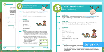 KS1  Take It Outside: Summer Maths Data Handling Activity - outdoor learning, forest school, nature detectives, treasures in the garden, outdoor, woodland learning, twinkl outdoor and woodland learning owl get it