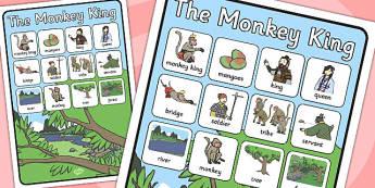 The Monkey King Vocabulary Poster - vocabulary, poster,  monkey