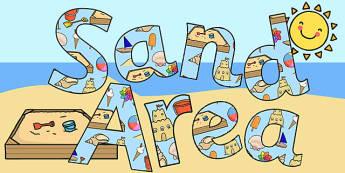 Sand Area Display Lettering - sand area, display lettering, display letters, lettering, display alphabet, lettering for display, alphabet letters, letters