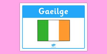 Gaeilge Classroom Area Sign - roi, republic of ireland, irish, gaeilge, classroom area, sign