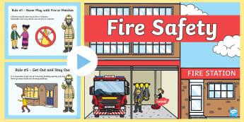 Fire Safety PowerPoint - fire safety, fire safety powerPoint, staying safe, personal safety, fire safety rules