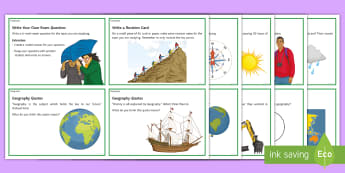 Geography Challenge Cards  - Challenge cards, Higher-order Thinking, Extension, Geography, Challenge