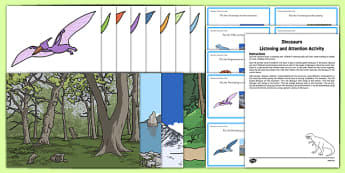 Dinosaurs Listening and Attention Activity Resource Pack