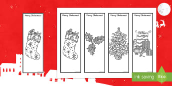 Christmas Mindfulness Bookmarks