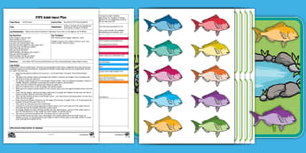 EYFS How Many Fish? Counting Game Adult Input Plan and Resource Pack - EYFS, Early Years Planning, Adult Led, Mathematics, Maths,  40-60, Selects The Correct Numeral To Re