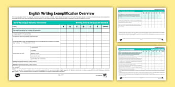 *NEW* Year 6 Writing Exemplification Checklist Overview - test, diagnostic, summative, formative