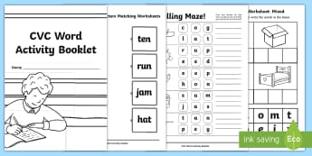 CVC Words Worksheets - Teaching Resources - Twinkl