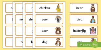 British Sign Language (BSL) Animals Word Cards - word cards, animal vocabulary, British sign language, BSL, animals signs, writing activities, spelli
