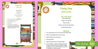Feely Pea Sensory Bag - pea, princess and the pea, sensory play, mess free play, toddler play, fine motor control