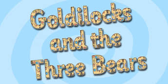 Goldilocks and the Three Bears Display Lettering - goldilocks and the three bears, display lettering, themed lettering, lettering for display, display