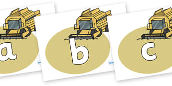 Phoneme Set on Combine Harvesters - Phoneme set, phonemes, phoneme, Letters and Sounds, DfES, display, Phase 1, Phase 2, Phase 3, Phase 5, Foundation, Literacy