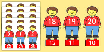 Toy Figure Number Bonds Matching Activity to 30 - toys, numeracy