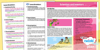 Scientists and Inventors CfE Year 2 Overview