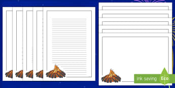 Bonfire Page Border Pack - Bonfire night, Writing, Literacy, English, Writing Frames, Images, themed, Creative Writing