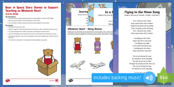 Bear in Space Story Stones Busy Bag Resource Pack for Parents - Whatever Next, Jill Murphy, space, role-play, story re-telling, story stones, imaginative play